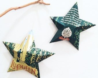St. Lupulin Extra Pale Ale Stars Ornaments Odell Brewing Aluminum Can Upcycled
