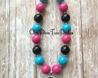 Ready to ship! Monster High skull chunky necklace