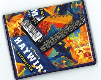 Wallet from Repurposed Pyramid Haywire Hefeweizen Beer Labels