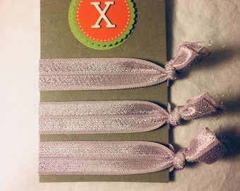 Alphabet Collection Creaseless Hair ties - Light Purple