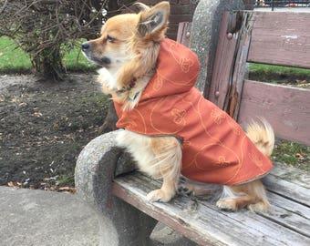 Reverse side dog jacket