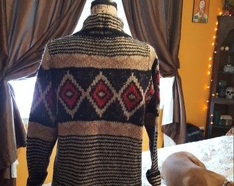 Southwest aztec cardigan sweater