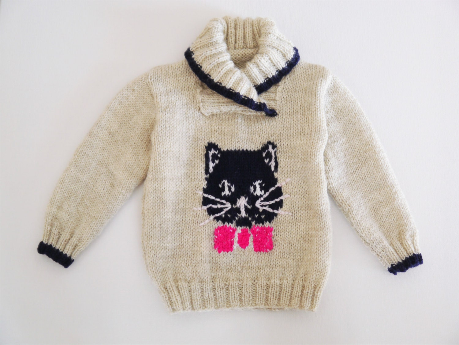 Knitting pattern for a cat and mice jumper, Sweater Knitting Pattern ...