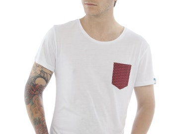 Bamboo Pocket Tee - Merlot Red