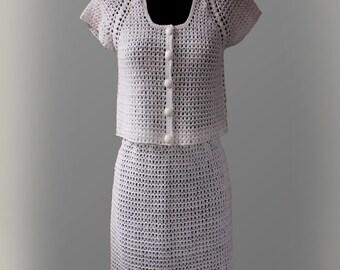 Crochet Skirt Suit