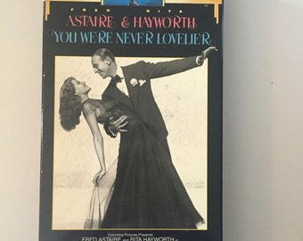 You Were Never Lovelier Starring Fred Astaire and Rita Hayworth VHS