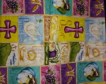 Easter Bible Verses Cotton Fabric