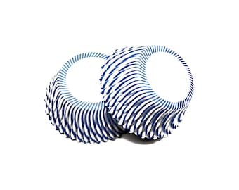 Blue Pinstripe Baking Cupcake Liners Cups - 36 Standard Size Liners - Baking, Craft and Party Supplies