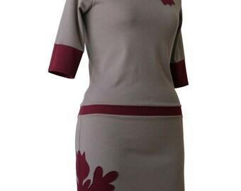 Pencil dress, Custom dress, Party dress, Knee length dress, Boat neck dress, Plus size clothing, Plus size, Dress, Applique, Custom clothes