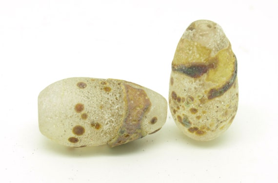 Rustic Teardrop Pair in Clear and Raku.