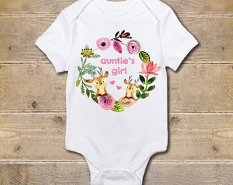 Aunt Onesie, Auntie, Baby Girl, Gift from Aunt, Gift for Niece, Baby Shower Gift, Aunt Shirt, My Aunt Loves Me