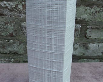 60s 70s large bisque white unglazed vase shot through lines Rosenthal Germany