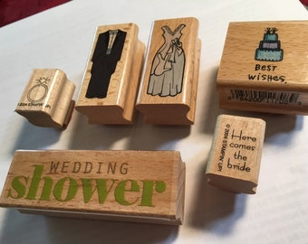 Wedding stamps - set of 6