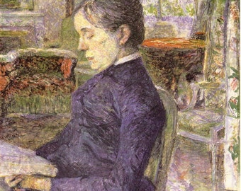 Toulouse-Lautrec - Countess Adele de Toulouse-Lautrec in the Salon of the Castle of Malrome to Frame or in Paper Arts & Collage PSS 2171