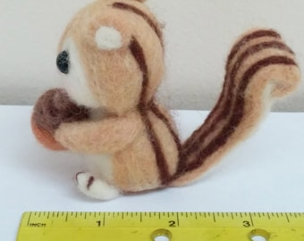 Needle felted squirrel.Needle Felted animal. Kids Toy, Miniature, Art and collectible, Handmade,