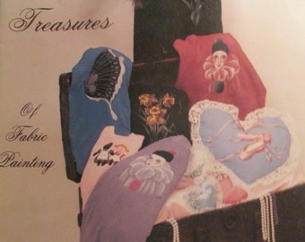 """Vintage Craft Booklet of """" Trudy's Treasures""""   How to fabric painting book 1986   used 34 pages"""