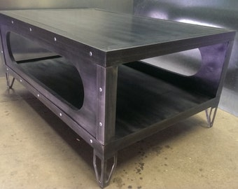 industrial metal furniture. Gunmetal Finish Industrial Coffee Table #029 \u2022 Style Furniture By Evolution Co Metal E