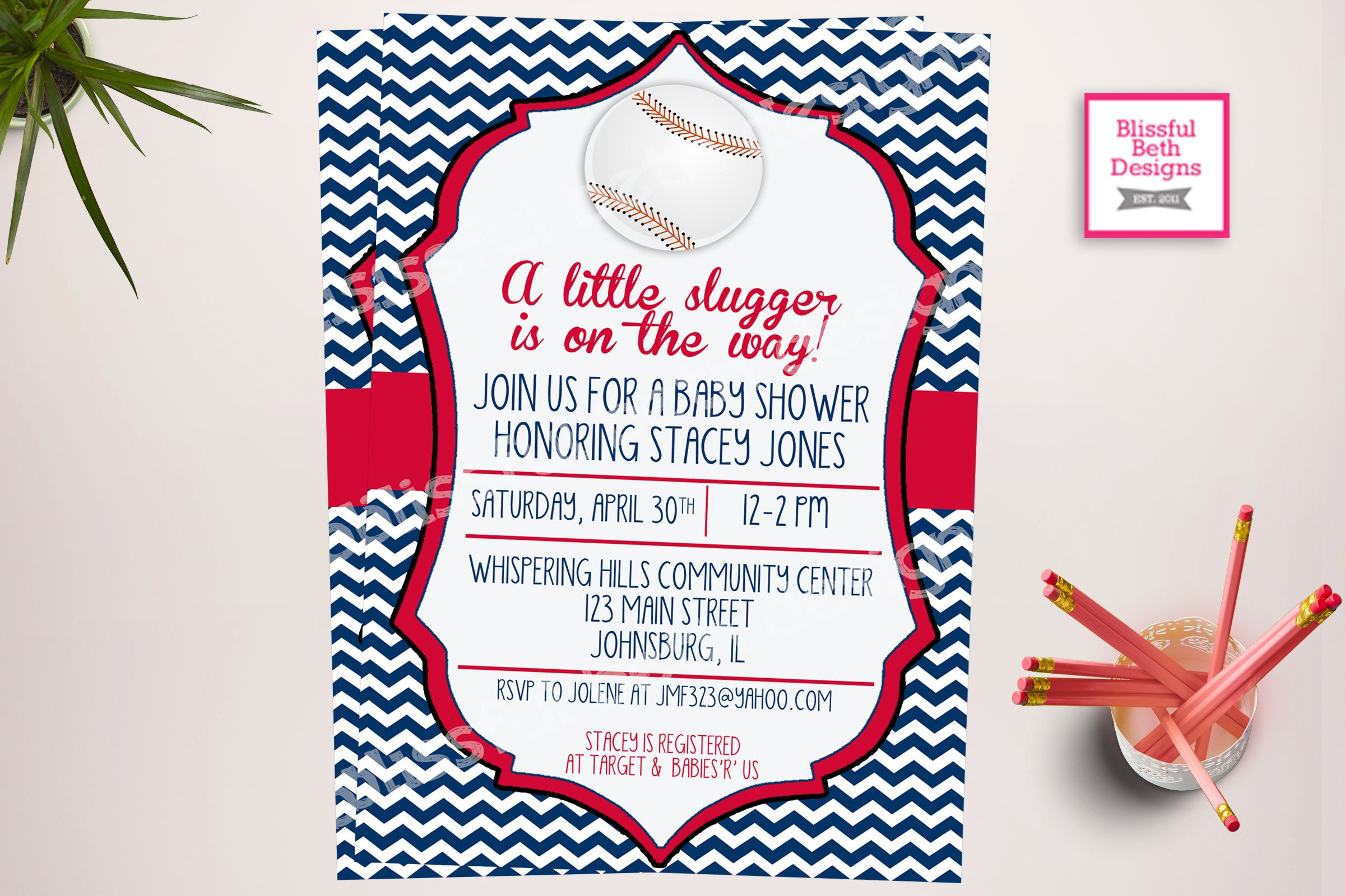 LITTLE SLUGGER SHOWER, Baseball Themed Baby Shower Invitation ...