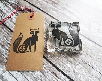 Fox stamp, rubberstamp,