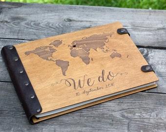 Wedding Guest Book, Map Guest Book, Guestbook, Guest Book, Photo Album, Custom Guest Book, Wedding, Wood Guest Book, Guestbook, Travel Album