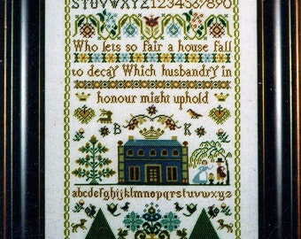 Husbandry in Honour Sampler by The Sampler Company Counted Cross Stitch Pattern/Chart