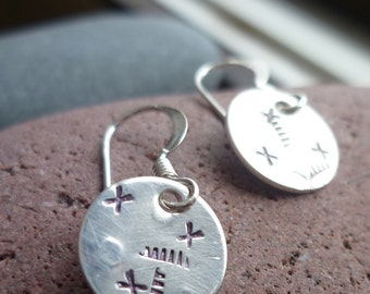 mini recycled sterling petroglyph