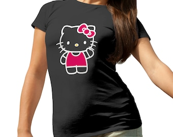 Hello Kitty Hi T-Shirt for Ladies Cool Gift