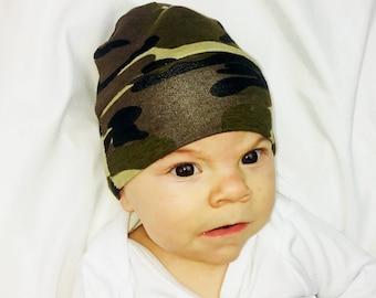 Camo Baby Beanie- Camo - Camo Baby Hat - Camo Toddler Hat