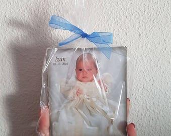 Iman con fotografia ideal para babyshower, bautizos, comuniones.