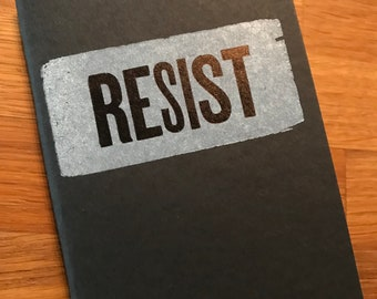 RESIST mini notebook