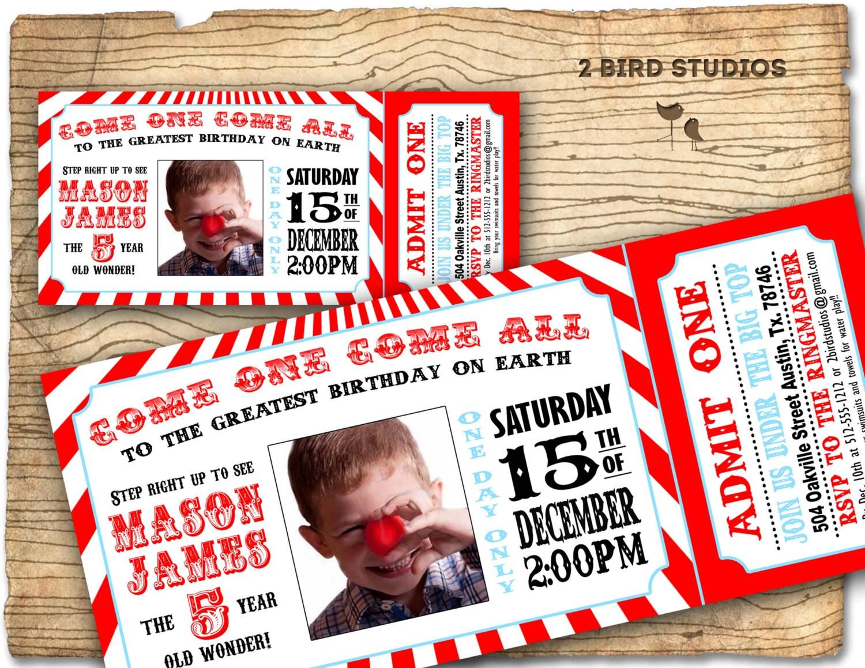 Circus invitation Vintage circus Birthday invite