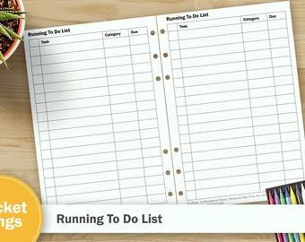 Printable To Do List - Pocket Rings