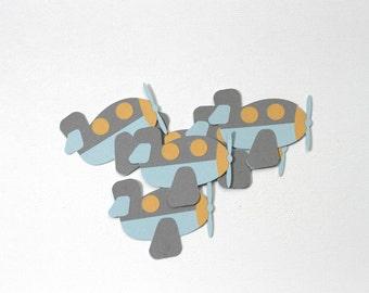 Airplane Die Cuts-Airplane Paper Die Cuts-Paper Airplanes-Airplane Confetti-Scrapbook Supplies-Airplane Craft Supplies-Invitation Supplies