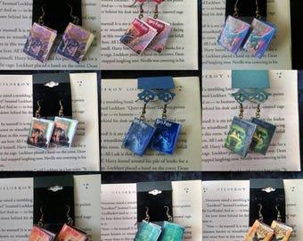Book Earrings / Book Jewelry / Handmade Book Earrings / Book Jewelry / Handmade Book Earrings / Gift for Her / Fandom Earrings / Book Lover