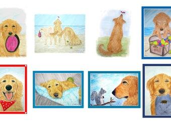 Golden Retriever Dog Cards Assorted