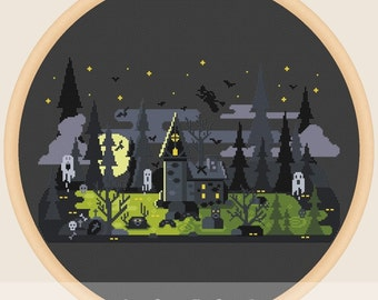 Halloween house - Cross stitch pattern