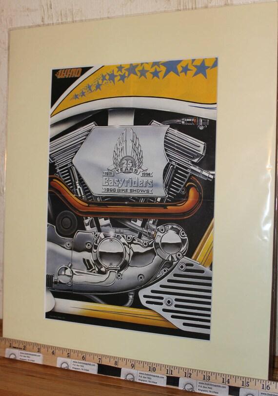 David Mann ''Easyrider's 25th Anniversary'' 16'' x 20'' Matted Motorcycle Biker Art #9603ezrxmc