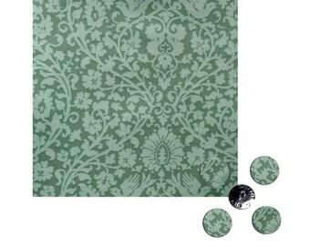 Fabric & button Tilda, fabric Tilda Addie teal, fabric Tilda green
