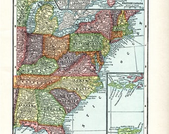 1910 Map of UNITED STATES Part 3