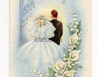 Vintage Wedding Card Digital Image Download Printable