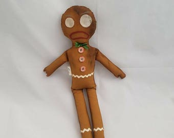 Burnt cookie Gingerbread man