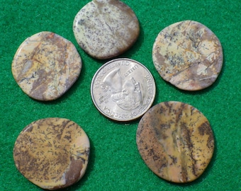 Lizardite set of five small golf ball markers