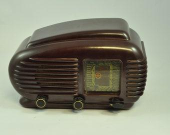 Czechoslovakia TESLA TALISMAN 308U Streamline Bakelite Radio, Vintage Radio, Antique Radio, Tube Radio, Tesla Radio, Vintage Audio