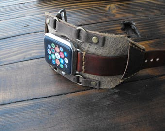 New design vintage genuine cow leather watchbands watch accessory bracelet for apple watch band 42mm 38mm series 1 & 2 3 Apple watch cuff
