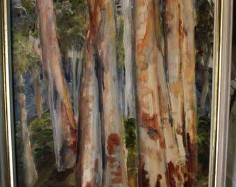 Original Oil Painting Viewing The Dandenongs Lorine Moran