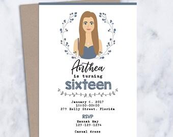 unique birthday invitation