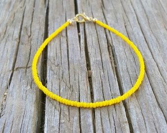 yellow anklet tropical beach lemon zesty surfing vacation cruise wear
