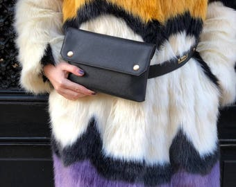 Black Bumbag - Faux Leather