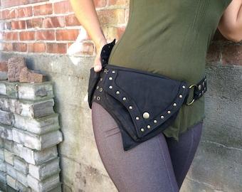 2 Pocket Pixie Brass ( Pocket Belt, Hip Bag, Utility Belt, Pixie Pockets, Fairy Belt, Festival Belt, Cosplay)