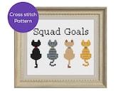 Cat Squad Goals Cross Sti...